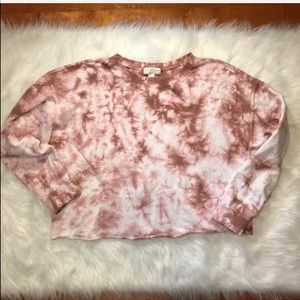 Forever 21 tie dye Crop pullover 2x